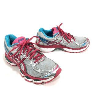 Asics Gel Evate3 Running Shoes Silver Pink Blue